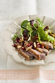 Insalata con petto d'oca (salad with goose breast, Italy)