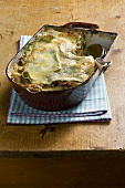 Lasagne verdi ai funghi (green lasagne with mushrooms, Italy)