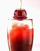 Cherry gazpacho with lychee granita
