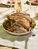 Vitello in umido con verdure (roast veal with vegetables)
