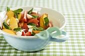 Insalata di pomodoro, pesca e menta (tomato, peach and mint salad)
