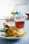 Gamberi alla griglia (grilled prawns, Italy)