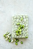 Broad beans, fresh and frozen