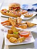 Various frozen snacks