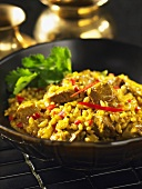 Lamb curry with barley