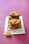 A stack of cranberry and bran biscuits