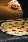 Pizza al salame (Salami pizza, Italy)
