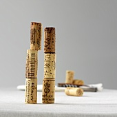 A stack of wine corks