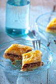 Baklava (puff pastry cake with pistachios and honey, Greece)