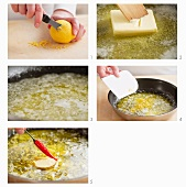 Steps for making lemon butter with chili