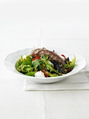Looseleaf lettuce with Hagissa dressing and Deichlamm sausage