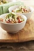 Rice salad with tuna fish