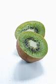 A halved kiwi fruit