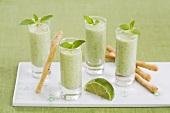 Four cucumber shots