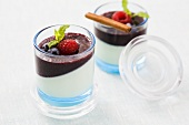 Cinammon Panna Cotta with berry puree