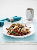 Woked vegetables with sauteed tofu