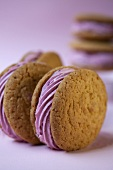 Two rolling whoopie pies