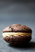 One chocolate whoopie pie