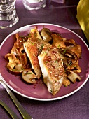 Breast of guinea fowl with mushrooms