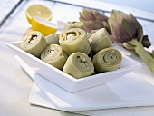 Artichoke hearts with lemon