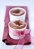 Chocolate souffles for gift giving