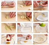 Preparing marinade for Chicken Satay