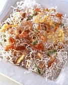 Crispy glass noodles with shrimp