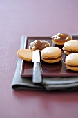 Hazelnut macaroons with chestnut cream