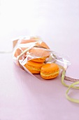 Orange-ginger macaroons for gift giving