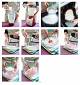 Preparing dough for macaroons