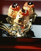 Deviled eggs with gold leaf