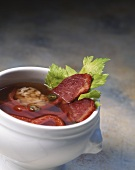 Beef bouillon with chili