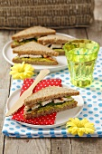 Turkey-avocado sandwiches