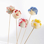 Cake pops with colorful sprinkles