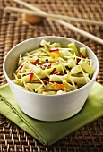 Cucumber with Sichuan spices, ginger and chilli