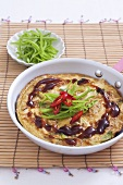 Rice omelette with chilli