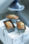 Banana bread in loaf tins
