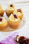 Butterfly cupcake with jam