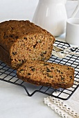Walnut cake with carrots and courgette
