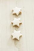 Three cinnamon stars