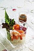 Chirashi sushi with a coriander dressing