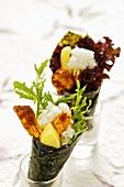 Temaki-Sushi mit Tandoorihuhn