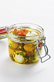 Goat's cream cheese in herbal olive oil