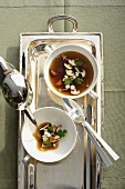 Duck stock with mushrooms