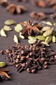 Chai tea spices - cloves, cardamom and star anise