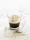 Coffee with milk foam