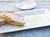 White bread and olive oil