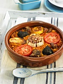 Arroz al horno (oven-baked rice, Spain)
