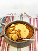 Arroz al horno (oven-baked rice, Spain) with garlic