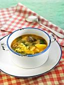 Arroz caldoso (rice stew, Spain) with snails